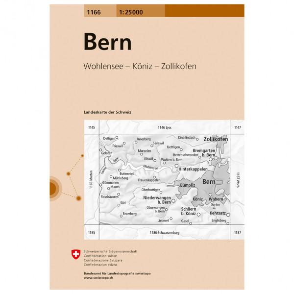 Swisstopo -  1166 Bern - Vaelluskartat