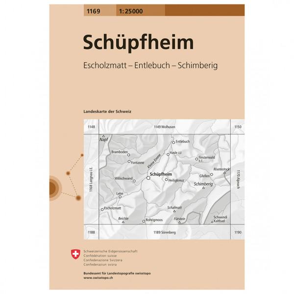 Swisstopo -  1169 Schlüpfheim - Wandelkaarten