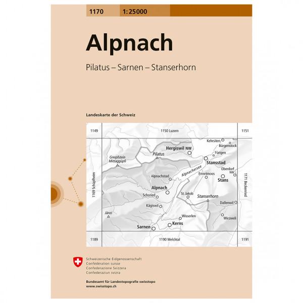 Swisstopo -  1170 Alpnach - Vandringskartor