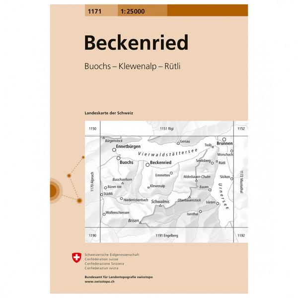 Swisstopo -  1171 Beckenried - Hiking map