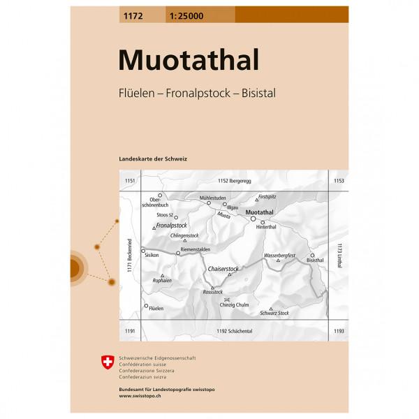 Swisstopo -  1172 Muotathal - Vaelluskartat