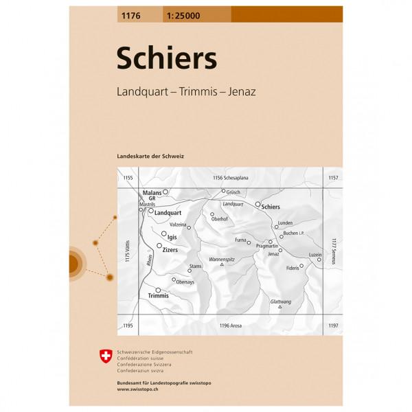 Swisstopo -  1176 Schiers - Wandelkaarten