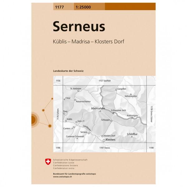 Swisstopo -  1177 Serneus - Vandringskartor