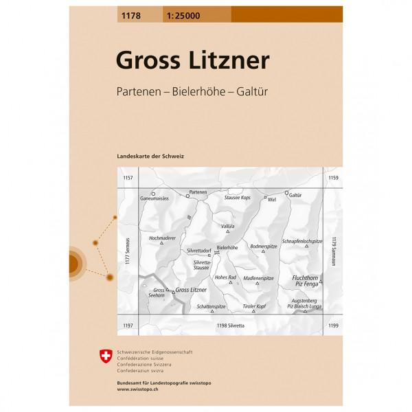 Swisstopo - 1178 Litzner - Wanderkarte