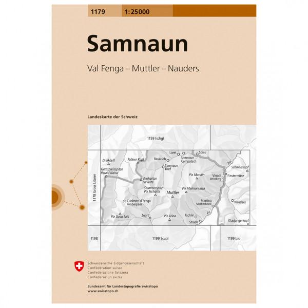 Swisstopo -  1179 Samnaun - Hiking map