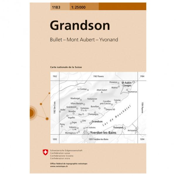 Swisstopo -  1183 Grandson - Vaelluskartat