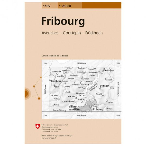Swisstopo - 1185 Fribourg - Wandelkaart