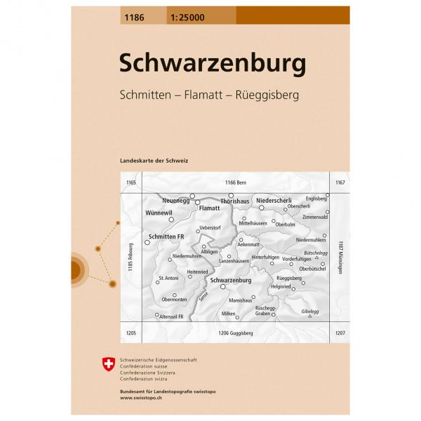 Swisstopo -  1186 Schwarzenburg - Vandringskartor