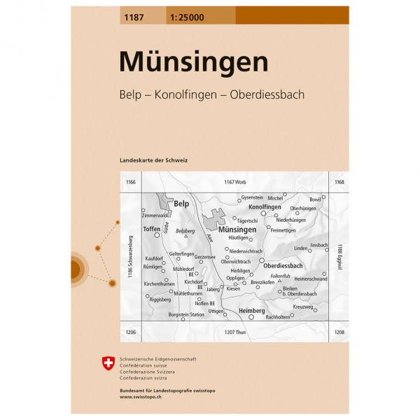 Swisstopo - 1187 Münsingen - Wanderkarte