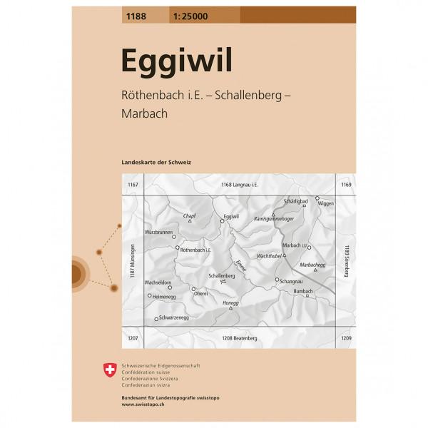 Swisstopo -  1188 Eggiwil - Wandelkaarten