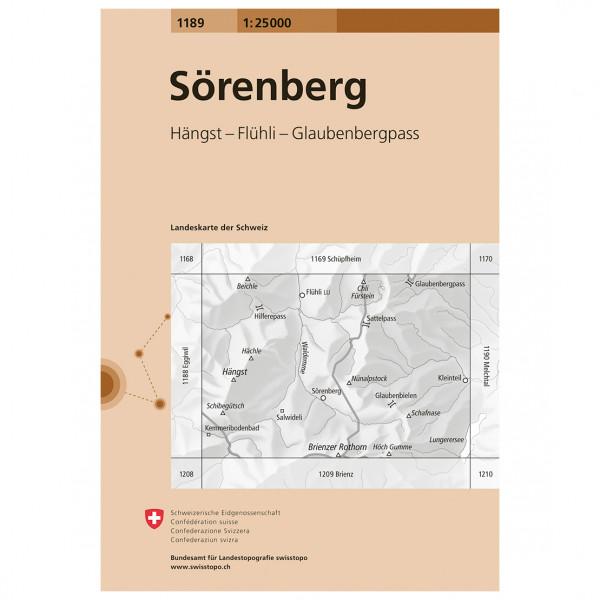 Swisstopo -  1189 Sörenberg - Wandelkaart