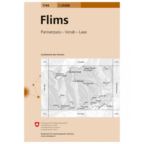 Swisstopo - 1194 Flims - Hiking map