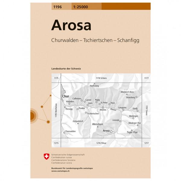 Swisstopo -  1196 Arosa - Vaelluskartat