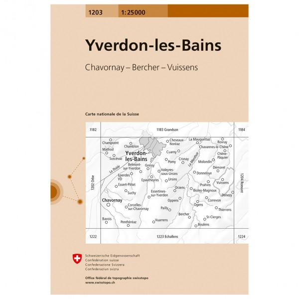 Swisstopo - 1203 Yverdon-les-Bains - Wanderkarte