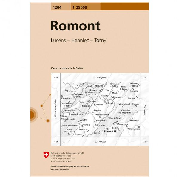 Swisstopo -  1204 Romont - Turkart