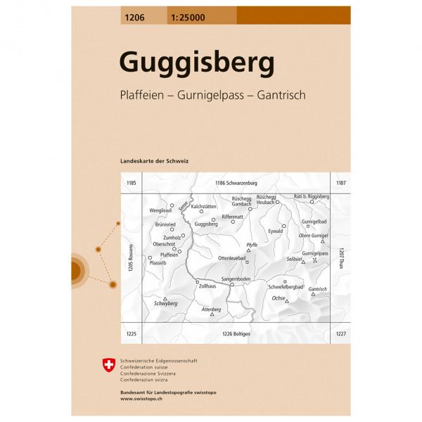 Swisstopo -  1206 Guggisberg - Vaelluskartat