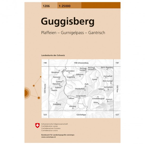 Swisstopo -  1206 Guggisberg - Vandringskartor