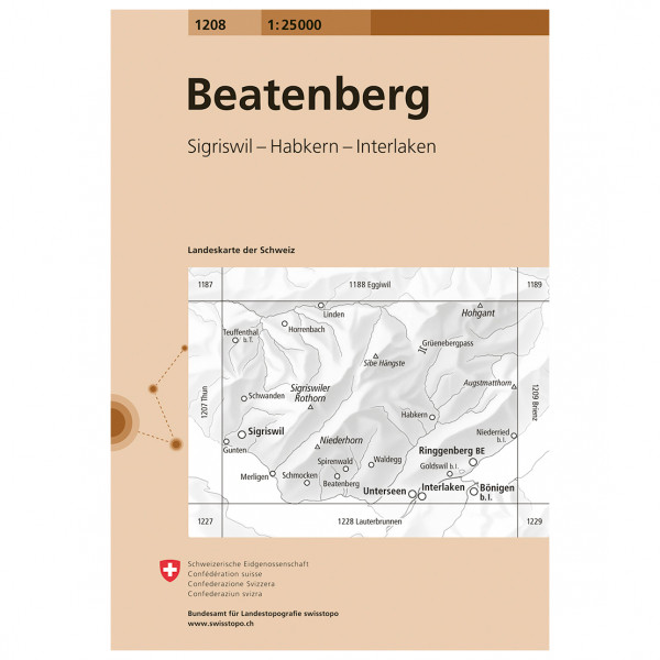 Swisstopo -  1208 Beatenberg - Vandringskartor
