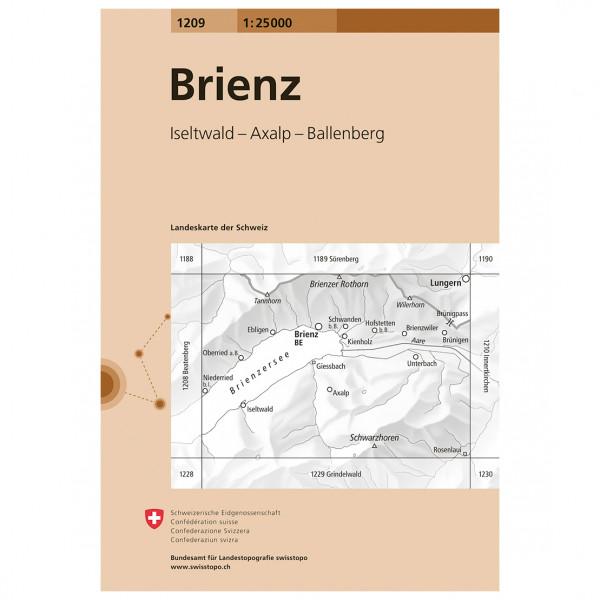 Swisstopo -  1209 Brienz - Hiking map