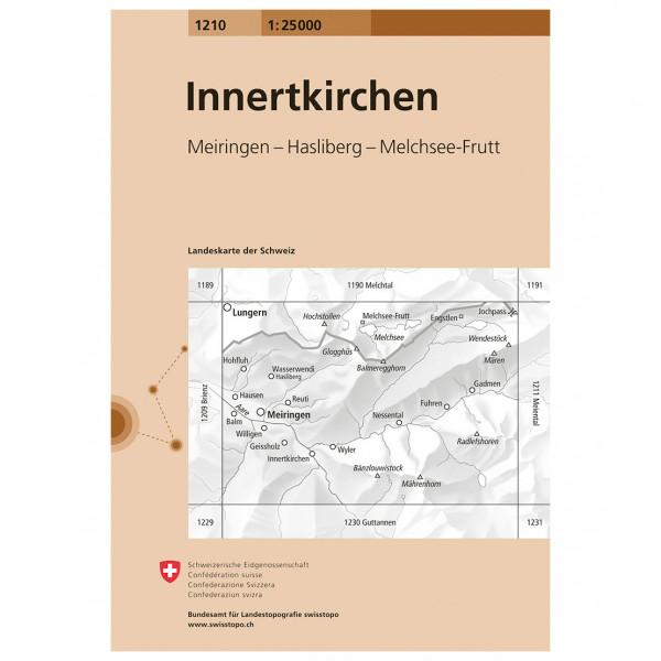 Swisstopo -  1210 Innertkirche - Mapa de senderos