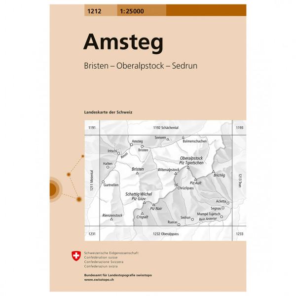 Swisstopo -  1212 Amsteg - Vandrekort