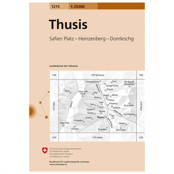 Swisstopo -  1215 Thusis - Hiking map