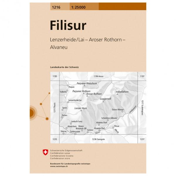 Swisstopo -  1216 Filisur - Hiking map