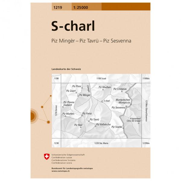 Swisstopo -  1219 S-charl - Hiking map