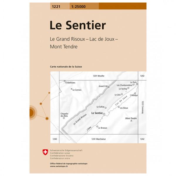 Swisstopo -  1221 Le Sentier - Turkart