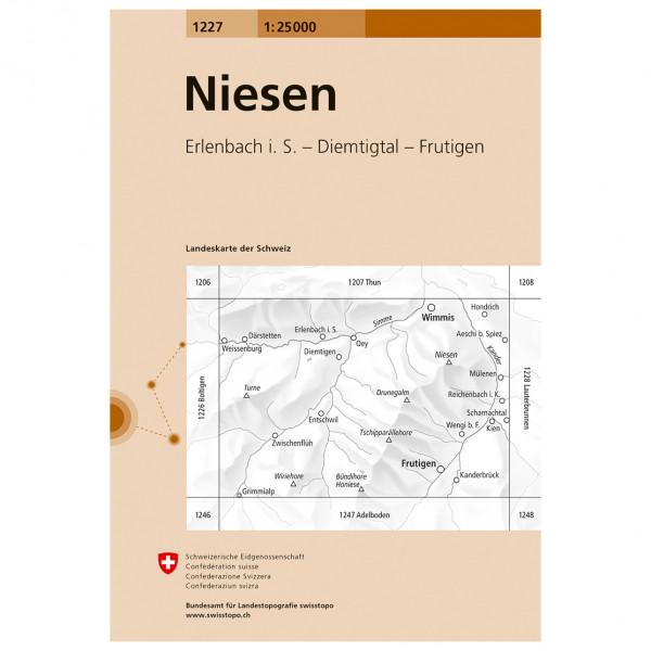Swisstopo -  1227 Niesen - Vandrekort