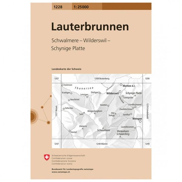 Swisstopo - 1228 Lauterbrunnen - Vandrekort