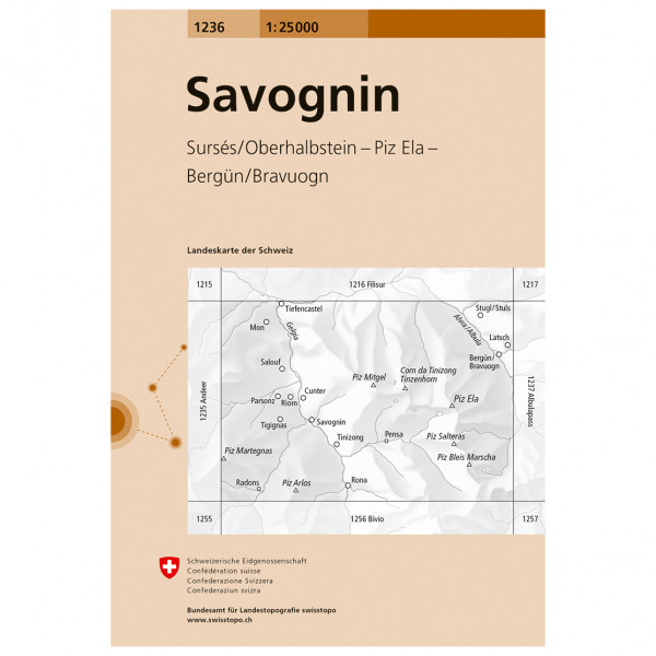 Swisstopo -  1236 Savognin - Turkart