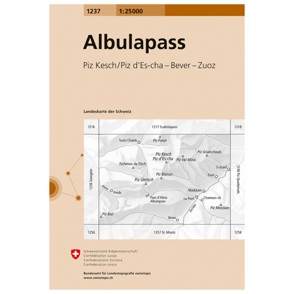 Swisstopo -  1237 Albulapass - Turkart