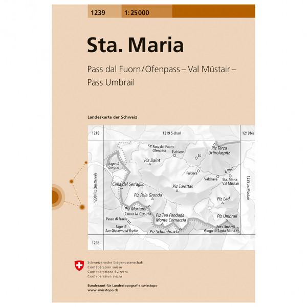 Swisstopo -  1239 Sta. Maria - Hiking map