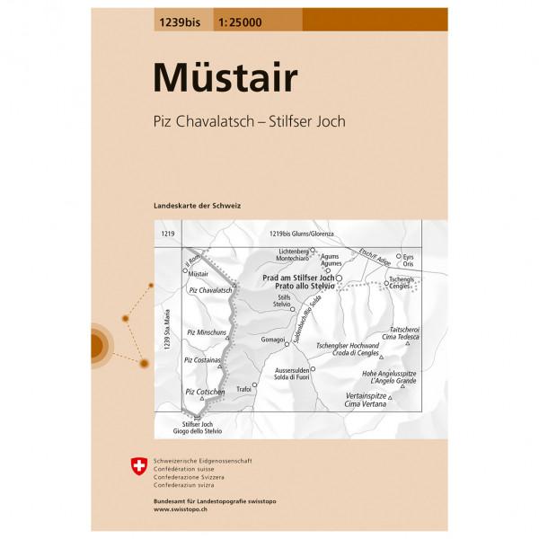Swisstopo -  1239bis Müstair - Hiking map