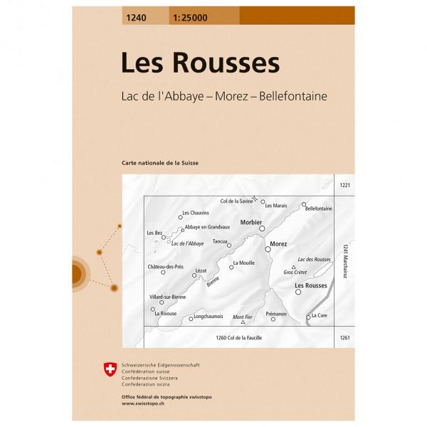 Swisstopo - 1240 Les Rousses - Wanderkarte