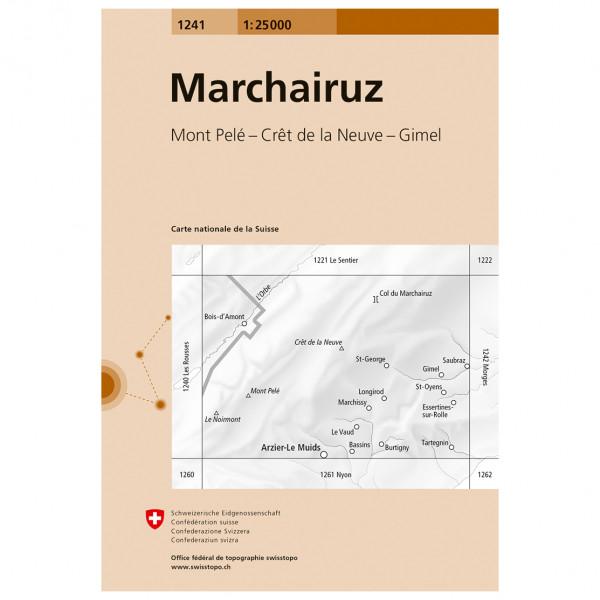 Swisstopo -  1241 Marchairuz - Wandelkaarten