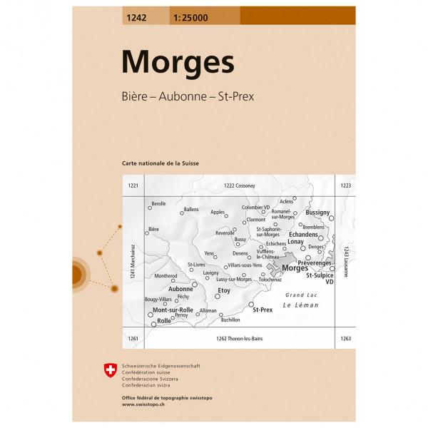 Swisstopo -  1242 Morges - Vandrekort