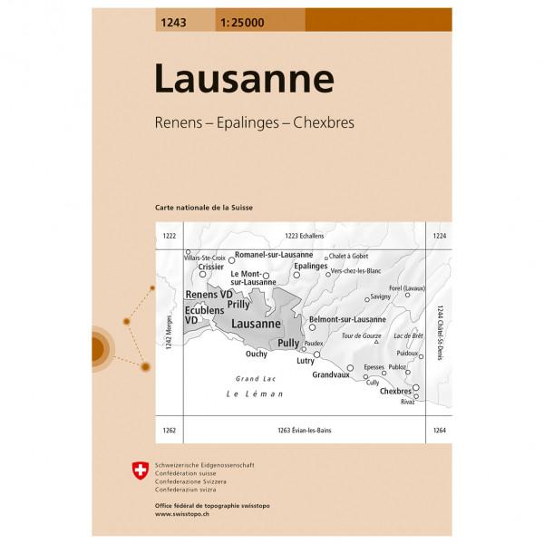 Swisstopo -  1243 Lausanne - Wanderkarte