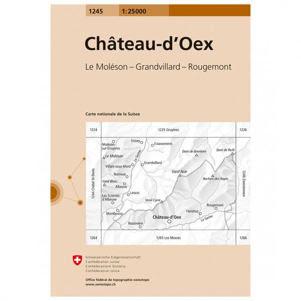 Swisstopo - 1245 Château-d'Oex - Wandelkaart