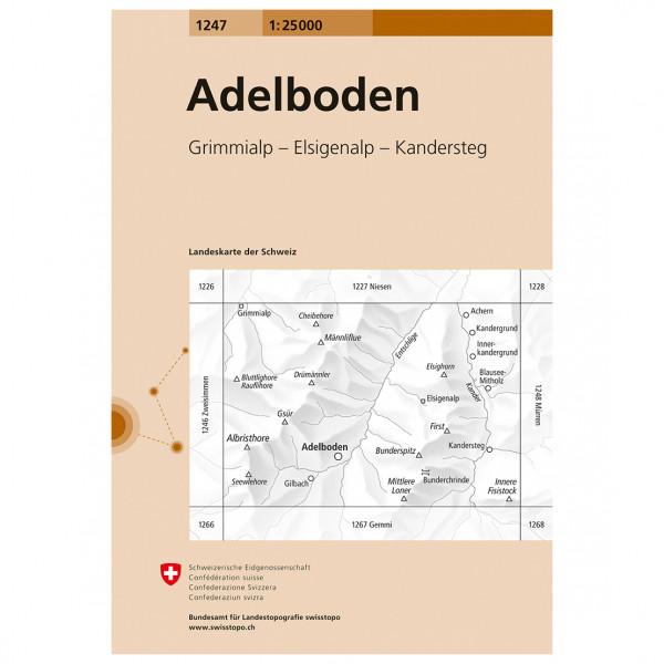 Swisstopo -  1247 Adelboden - Vaelluskartat
