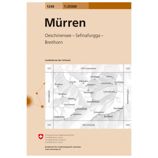 Swisstopo - 1248 Mürren - Hiking map