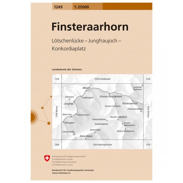 Swisstopo - 1249 Finsteraarhorn - Wandelkaarten