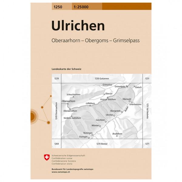 Swisstopo -  1250 Ulrichen - Hiking map