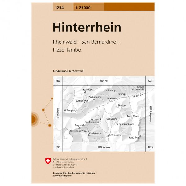 Swisstopo -  1254 Hinterrhein - Turkart