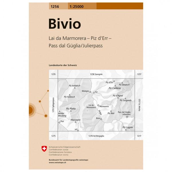 Swisstopo -  1256 Bivio - Wanderkarte