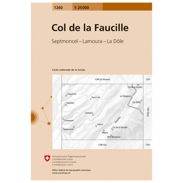 Swisstopo - 1260 Col de la Faucille - Carte de randonnée