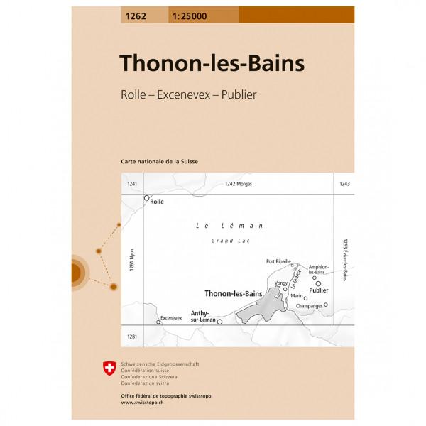 Swisstopo - 1262 Thonon-les-Bains - Hiking map