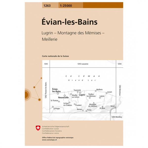 Swisstopo - 1263 Évian-les-Bains - Wanderkarte