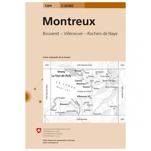 Swisstopo -  1264 Montreux - Wandelkaarten